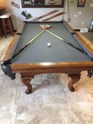 Solo Portland Golden West Grey Felt Pool Table And Pub