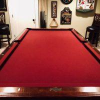 8' Billiards/ Red Felt Pool Table by American Heritage