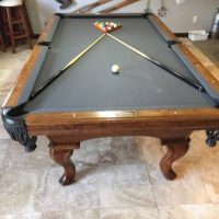 Golden West Grey Felt Pool Table And Pub Tables And Stools