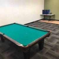 Olhausen green Felt Pool Table