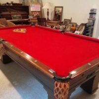 Antique 1897 Brunswick Pool Table