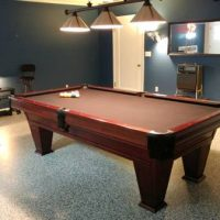 Beautiful Brunswick Pool Table, Brazilian Slate