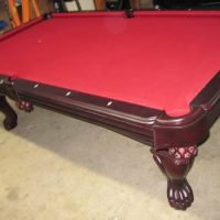 Queen Anne Cherry Wood Pool Table Premium Monterey 8 ft