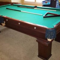 Circa 1900 Slate Pool Table for Sale