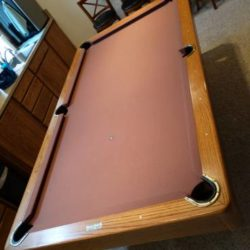Pool Table Golden West Oak