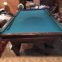 Antique Brunswick Victorian Pool Table