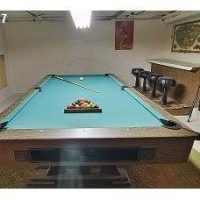 8 foot pool table with ball return system