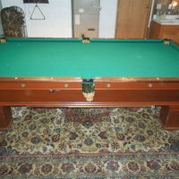 1908 Antique Brunswick Pool Table