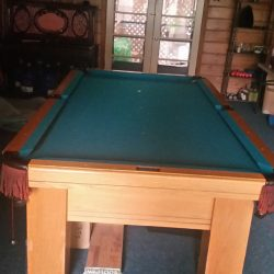 Old English oak Coronado pool table