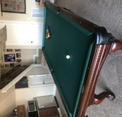 9ft C.L. Bailey Dutches Pool Table with Accessories(SOLD)