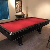 Pool Table, Red Felt