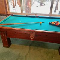 """Brunswick """"Baby Grand"""" Solid Mahogany, 1914, 7 Foot, Carom and Pocket Billiard, Excellent Unrestored"""