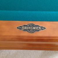 """Beautiful 8' Brunswick """"Brookstone"""" 3 piece slate table"""