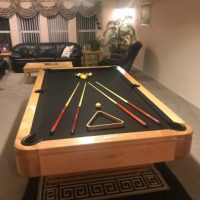 Custom Golden West Slate Billiard Table