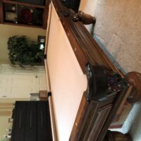 """Beautiful pool table custom made by ""Goldenwest Billiard Mfg"""
