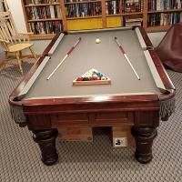 Golden West Billiard, Highlander Round Leg in a Red Mahogany finish
